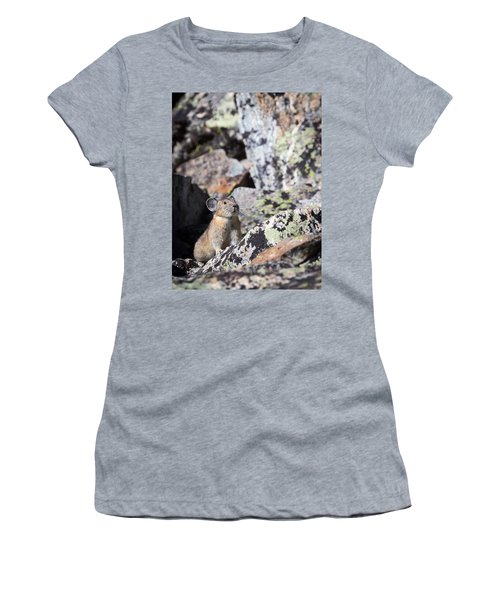 Women's T-Shirt featuring the photograph Pika by Michael Chatt