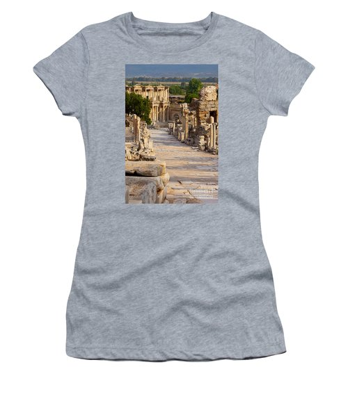 Women's T-Shirt featuring the photograph Ruins Of Ephesus by Brian Jannsen