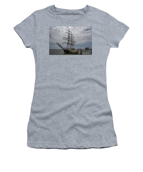 Women's T-Shirt (Junior Cut) featuring the photograph Tall Ship Gunilla by Dale Powell