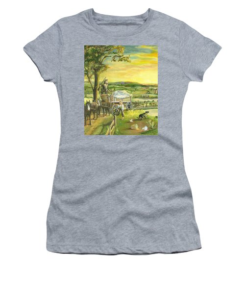 The Farm Boy And The Roads That Connect Us Women's T-Shirt (Athletic Fit)