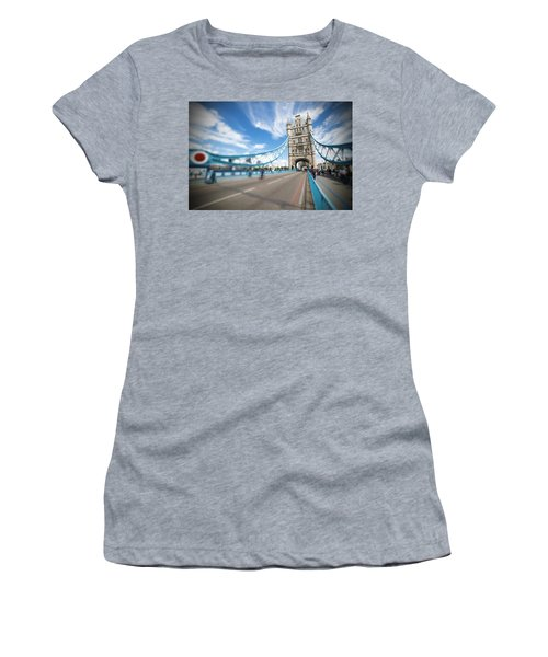 Women's T-Shirt (Junior Cut) featuring the photograph Tower Bridge In London by Chevy Fleet