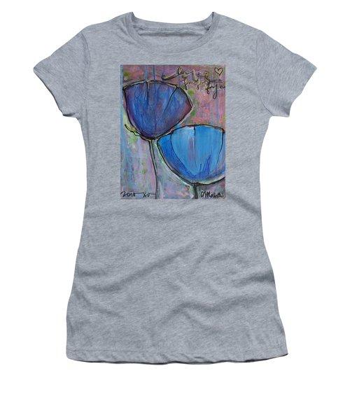 Two Blue Poppies Women's T-Shirt