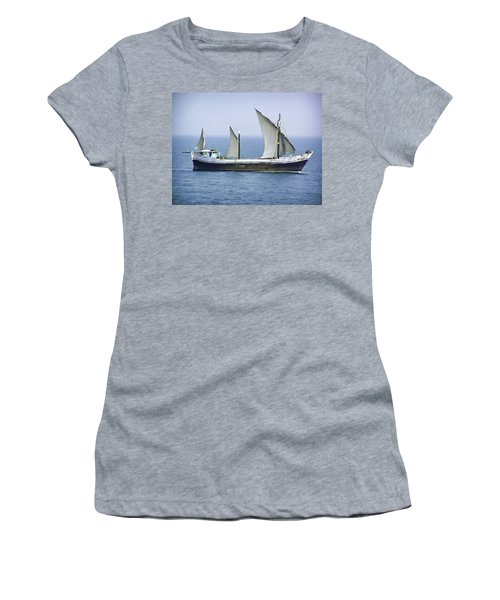 Fishing Vessel In The Arabian Sea Women's T-Shirt (Junior Cut)