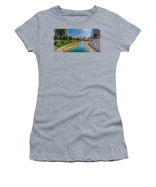 Indianapolis Skyline From The Canal Women's T-Shirt (Athletic Fit)