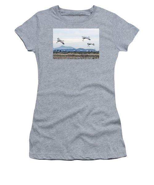 Sandhill Cranes Women's T-Shirt (Athletic Fit)