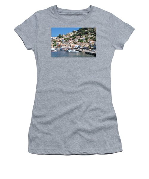 Yialos Harbour Symi Women's T-Shirt (Athletic Fit)