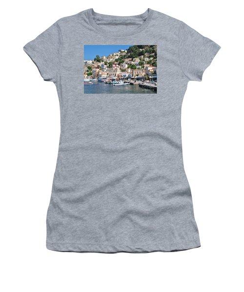 Yialos Harbour Symi Women's T-Shirt (Athletic Fit)