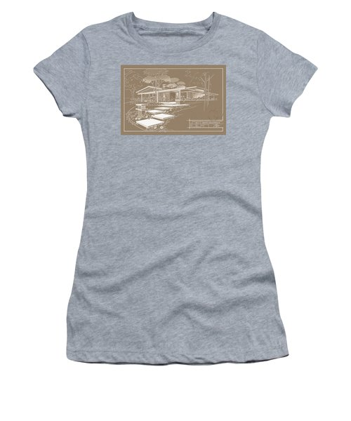 301 Cypress Drive - Sepia Women's T-Shirt (Athletic Fit)