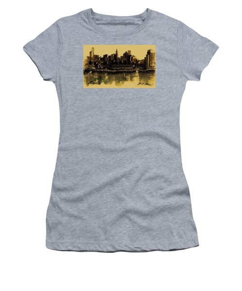 Boston Skyline Women's T-Shirt (Athletic Fit)