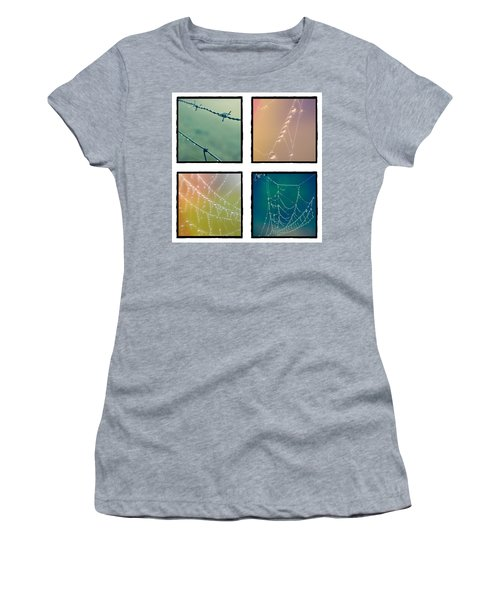4 Color Web Droplets Women's T-Shirt