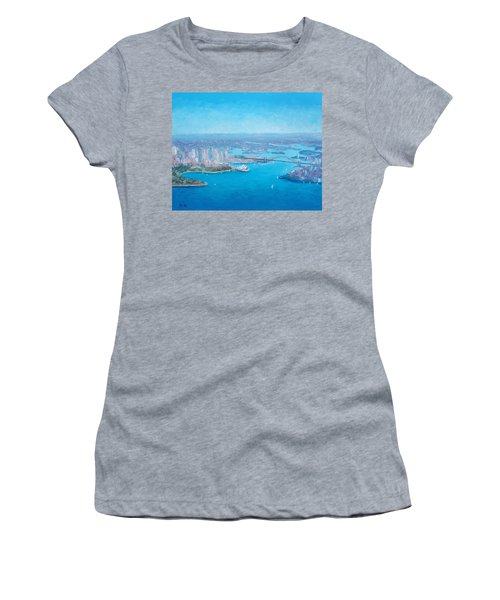 Sydney Harbour And The Opera House Aerial View  Women's T-Shirt