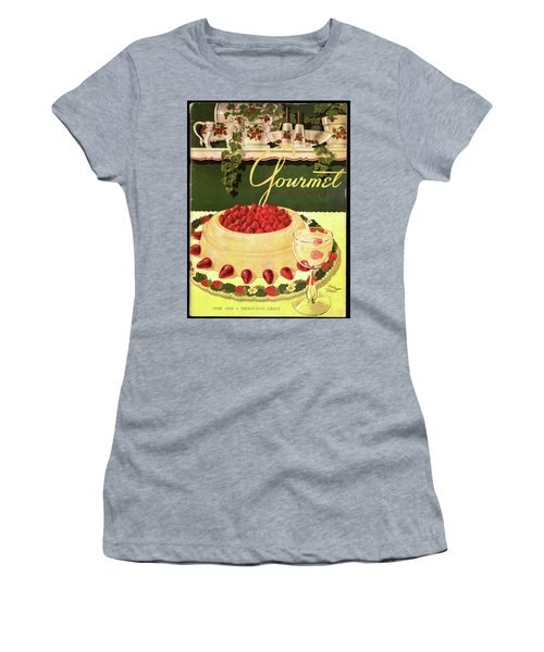 A Blancmange Ring With Strawberries Women's T-Shirt