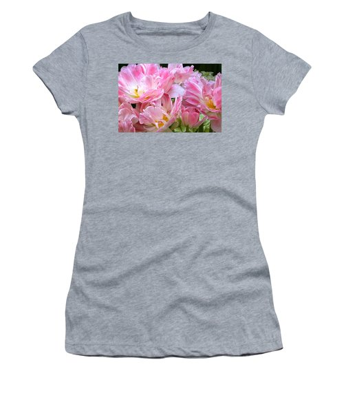 A Crowd Of Tulips Women's T-Shirt (Athletic Fit)