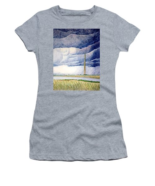 Women's T-Shirt (Junior Cut) featuring the painting A Finger To The Sky by A  Robert Malcom