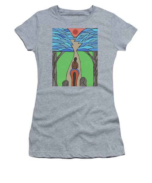 Women's T-Shirt (Junior Cut) featuring the painting A Horse Of A Different Colour by Barbara St Jean