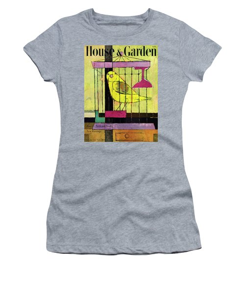 A House And Garden Cover Of A Bird In A Cage Women's T-Shirt