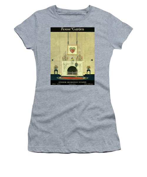 A House And Garden Cover Of A Fireplace Women's T-Shirt