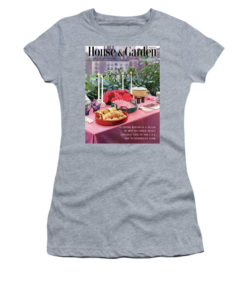 A House And Garden Cover Of Al Fresco Dining Women's T-Shirt
