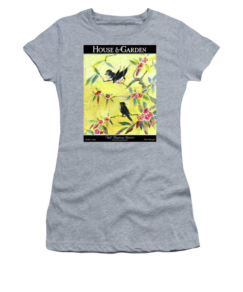 A House And Garden Cover Of Chickadees Women's T-Shirt