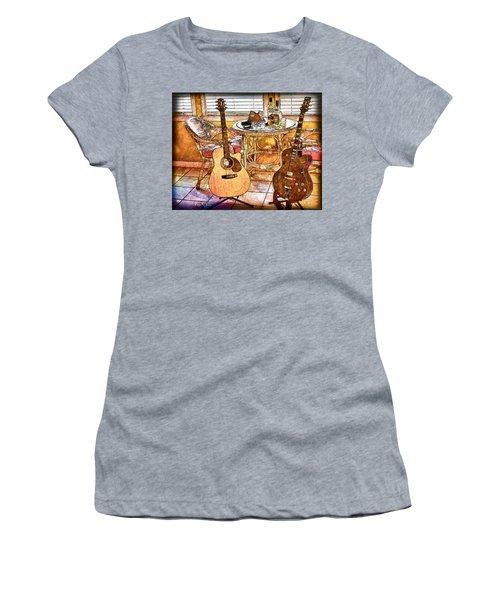 A Little Bit Country-a Little Bit Blues Women's T-Shirt (Athletic Fit)