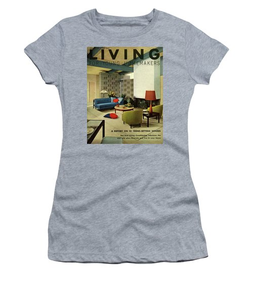 A Living Room With Carpeting By Callaway Women's T-Shirt