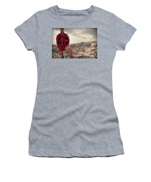A Male Hiker Stops To Take In The Views Women's T-Shirt