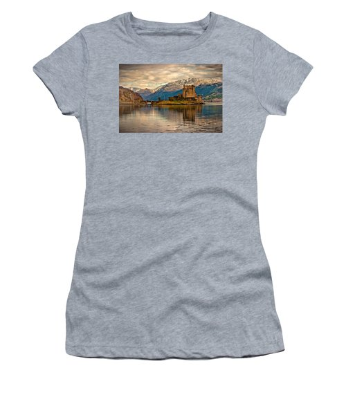 A Reflection At Eilean Donan Castle Women's T-Shirt (Athletic Fit)