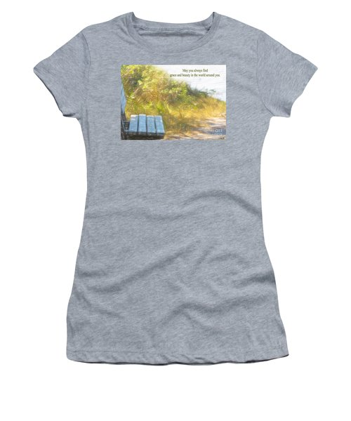 A Seat By The Ocean To Observe God's Beauty Women's T-Shirt (Athletic Fit)