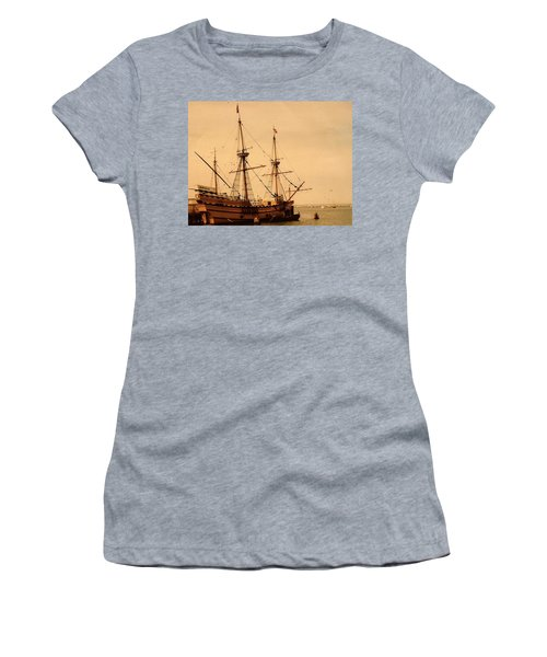 A Small Old Clipper Ship Women's T-Shirt (Athletic Fit)