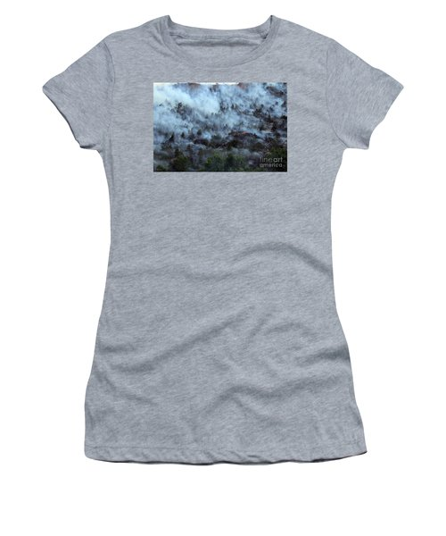 A Smoky Slope On White Draw Fire Women's T-Shirt