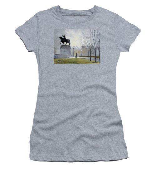 A Walk In Forest Park In St.louis Women's T-Shirt (Junior Cut) by Irek Szelag