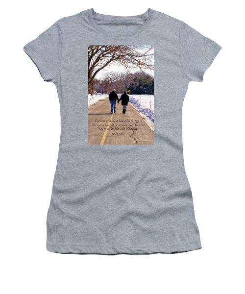 A Winter Walk/inspirational Women's T-Shirt
