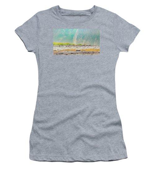 A Wolf Walking In Fingers Bay, Glacier Women's T-Shirt