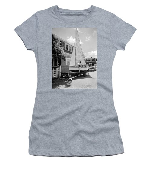 A Woman On Sailboat At Home Women's T-Shirt