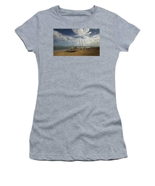 Abandoned Beach Women's T-Shirt (Athletic Fit)