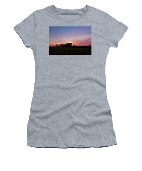 Women's T-Shirt (Junior Cut) featuring the photograph Abandoned Train  by Eti Reid