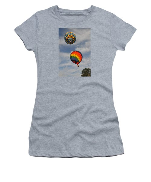 Women's T-Shirt (Junior Cut) featuring the photograph Above The Treetop by Mike Martin