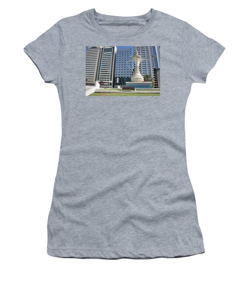 Women's T-Shirt (Junior Cut) featuring the photograph Abu Dhabi Al Ittihad Square by Steven Richman