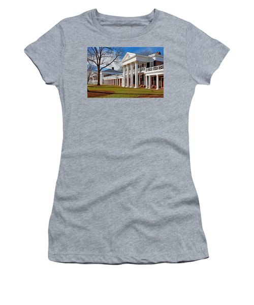 Academical Village At The University Of Virginia Women's T-Shirt (Junior Cut) by Melinda Fawver