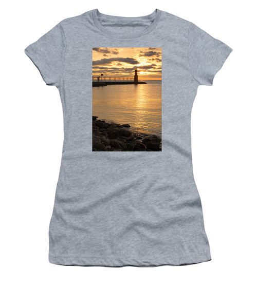 Across The Harbor Women's T-Shirt (Athletic Fit)