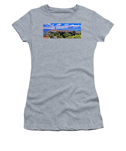 Adriatic Town Of Vrbnik Panoramic View Women's T-Shirt (Athletic Fit)