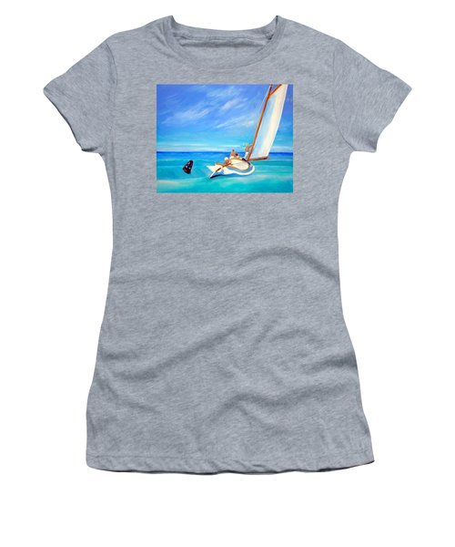 After Hopper- Sailing Women's T-Shirt (Athletic Fit)