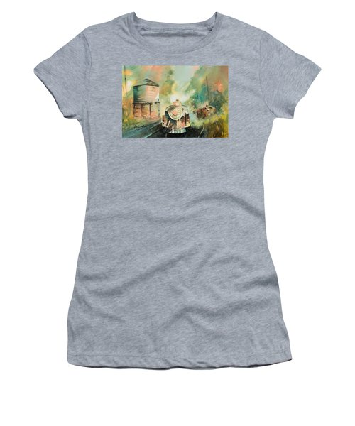 All Aboard Women's T-Shirt (Junior Cut) by Lee Beuther