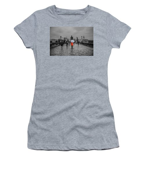 Alone In The Crowd Women's T-Shirt (Athletic Fit)