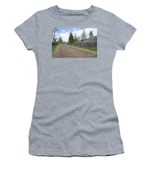 Women's T-Shirt (Junior Cut) featuring the photograph Along An Old Fashioned Road by Kennerth and Birgitta Kullman