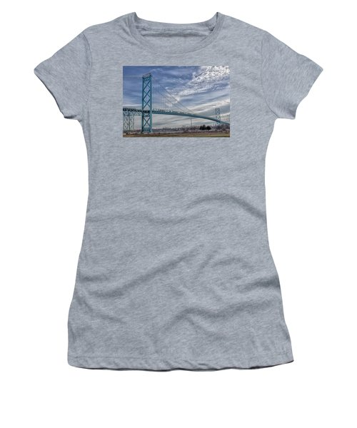 Ambassador Bridge From Detroit Mi To Windsor Canada Women's T-Shirt