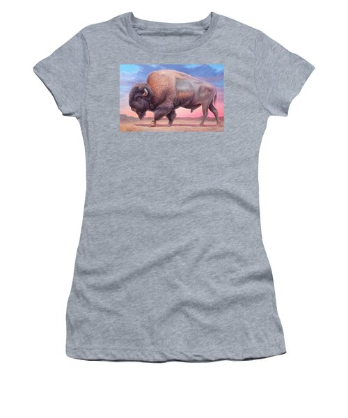 American Buffalo Women's T-Shirt (Junior Cut) by Hans Droog