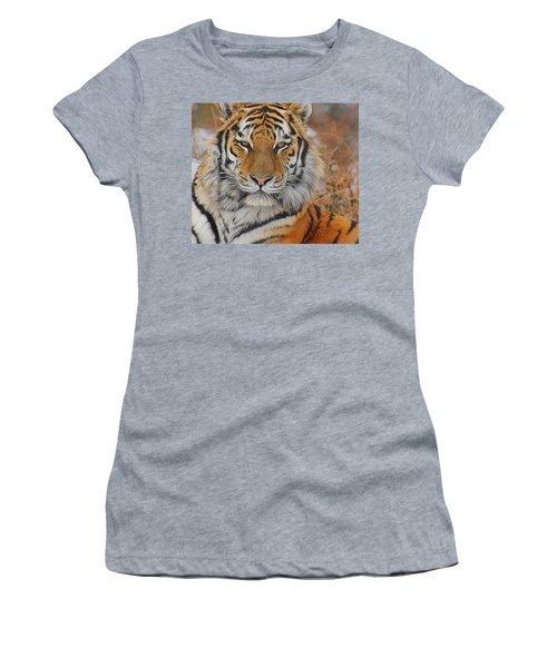 Amur Tiger Magnificence Women's T-Shirt (Athletic Fit)