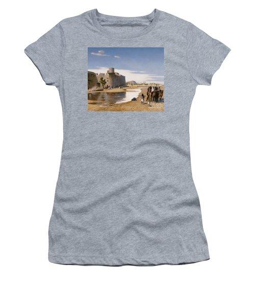 An Arab Caravan Outside A Fortified Town Women's T-Shirt