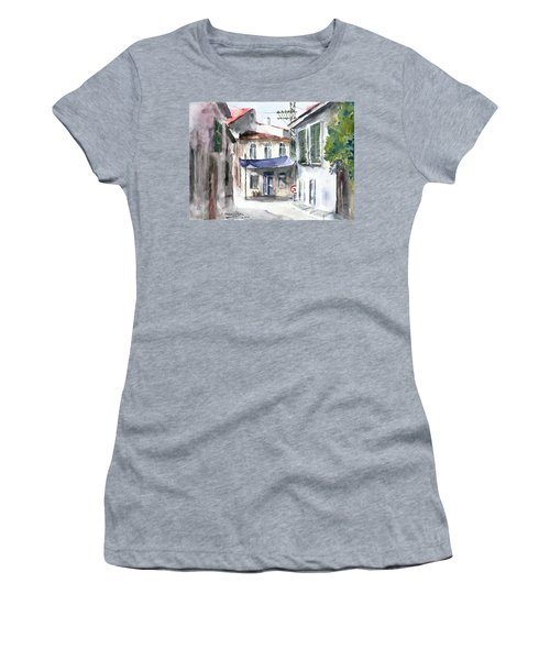 An Authentic Street In Urla - Izmir Women's T-Shirt (Junior Cut) by Faruk Koksal
